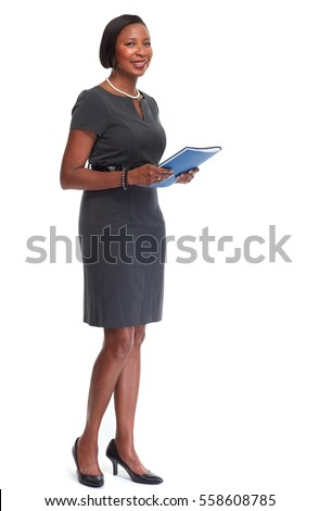 Portrait of the business woman with a represent folder. Stock photo © Massonforstock