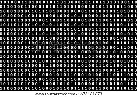 Binary code black and white background with digits one and zero on screen. Format 16:9. stock photo © kyryloff