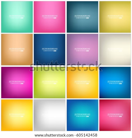 Abstract vector red green nature blurred background set. Square blurred backgrounds set - sky clouds Stock photo © MarySan