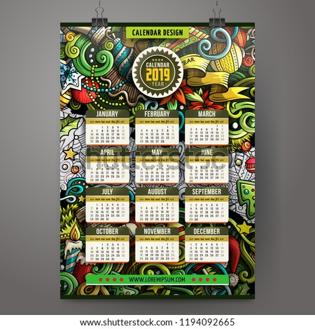 cartoon · halloween · jaar · kalender · sjabloon - stockfoto © balabolka