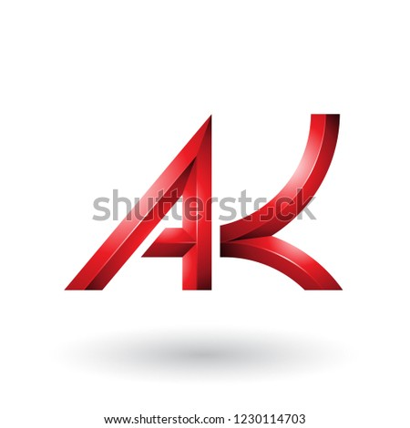Red Bold and Curvy Geometrical Letters A and K Vector Illustrati Stock photo © cidepix