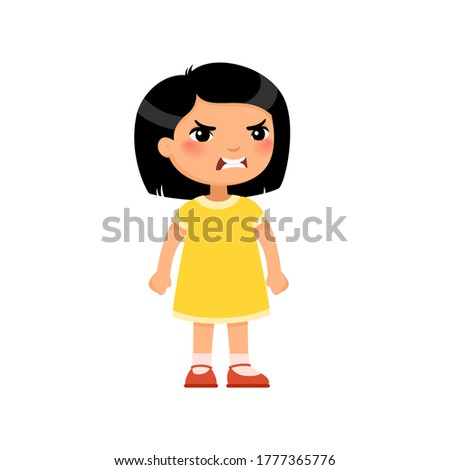 Asian Girl, Child, Kid, Teen Vector. Schoolchild. Face Emotions, Various Gestures. Animation Creatio Stock photo © pikepicture