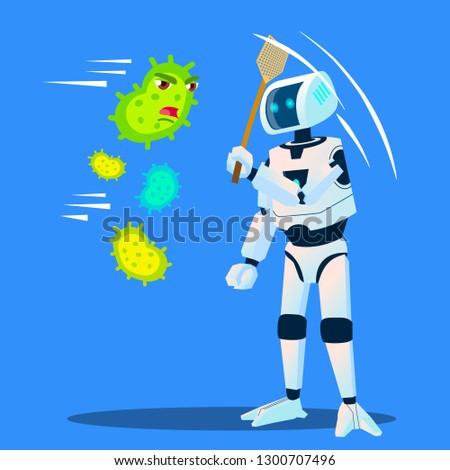 ロボット 細菌 飛行 周りに ベクトル ストックフォト © pikepicture
