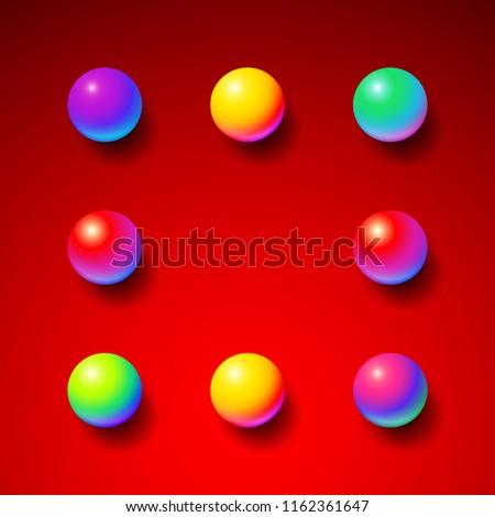 赤 · 抽象的な · 幾何学的な · ボタン · テンプレート · バッジ - ストックフォト © swillskill
