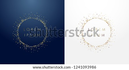 Blue ring frame. Glitter round with bright sparkles. Light effect with circle frame, luminous swirli Stock photo © Andrei_