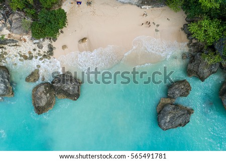 Top Luftbild Schönheit Strand leer Stock foto © galitskaya