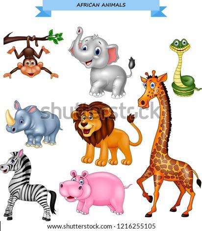Afrikaanse dier cute grappig leeuw icon Stockfoto © MarySan