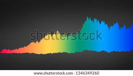 infographic of spectrum color sound waveform, chart, graph concept. Vector illustration isolated on  Stock photo © kyryloff