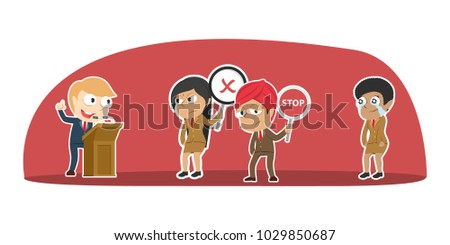 Crying Indian Businessman In Suit Vector Flat Cartoon Illustration Stock photo © pikepicture