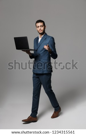 teljes · alakos · kép · jóképű · arab · üzletember · 30-as · évek - stock fotó © deandrobot