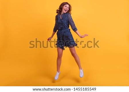 写真 女性 ドレス 歓喜 ストックフォト © deandrobot