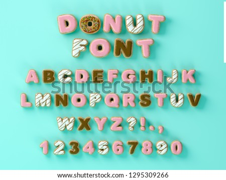 Tentant typographie police design 3D donut Photo stock © balasoiu