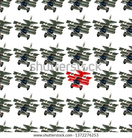 Unique and different concept with cartoon retro fighter planes Stock photo © mechanik