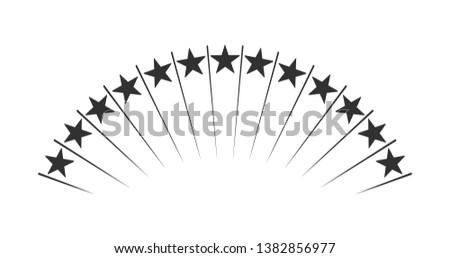 Résumé up étoiles tir feux d'artifice isolé Photo stock © kyryloff