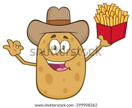 Cowboy ziemniaczanej charakter Zdjęcia stock © hittoon