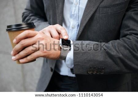 Fotó európai vállalkozó üzletember hivatalos öltöny Stock fotó © deandrobot