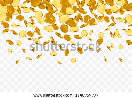 падение Top доллара Золотые монеты белый бизнеса Сток-фото © olehsvetiukha