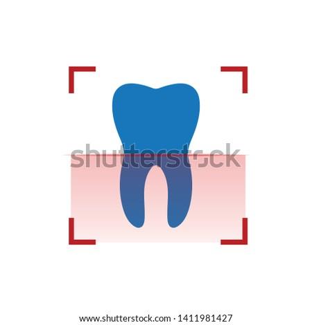 Ludzi zębów czerwony skaner xray stomatologicznych Zdjęcia stock © kyryloff
