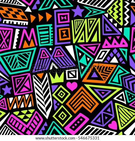 Sportok kézzel rajzolt firkák végtelen minta színes vektor Stock fotó © balabolka