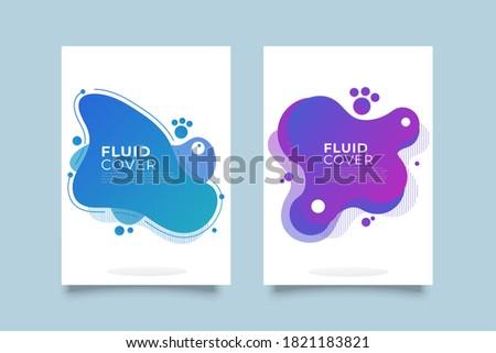 抽象的な 液体 要素 ポスター カラフル ストックフォト © MarySan