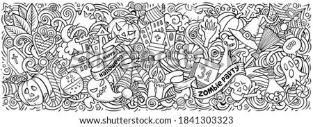 Сток-фото: Cartoon · счастливым · Хэллоуин · иллюстрация