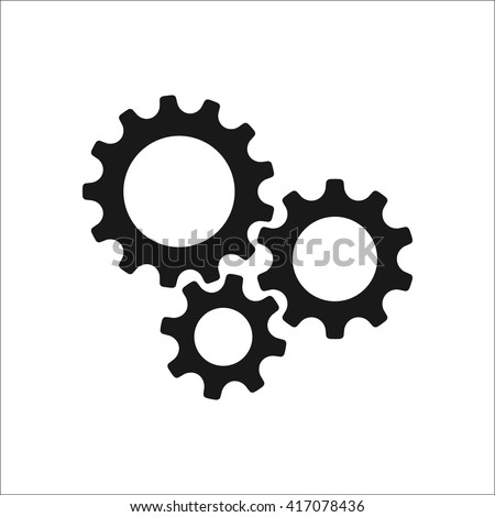 gear or cog Icon vector. Simple flat symbol. Stock vector illustration on white background. stock photo © kyryloff