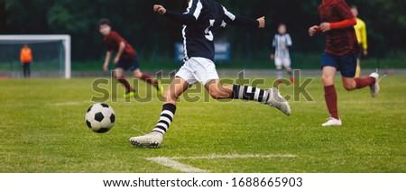 voetbal · duel · niveau · school · voetbal · toernooi - stockfoto © matimix