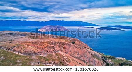 острове каменные пустыне морем Сток-фото © xbrchx