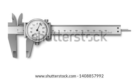Calliper or caliper - caliper rule measuring tools, high-precisi Stock photo © Winner