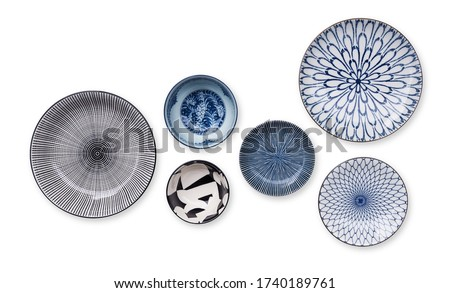 collection of beautifully ceramic and porcelain household utensi Stock photo © Margolana