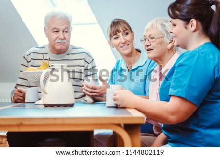 コーヒー 時間 老人ホーム 食べ 飲料 ストックフォト © Kzenon