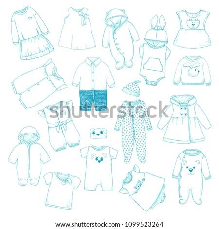 bebek · gömlek · pantolon · karalama - stok fotoğraf © arkadivna