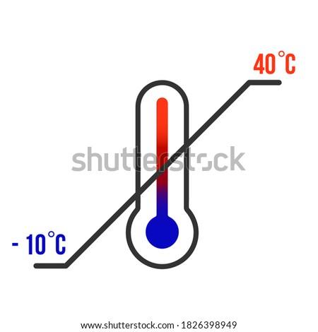 Teken thermometer scheepvaart symbool geïsoleerd witte Stockfoto © orensila
