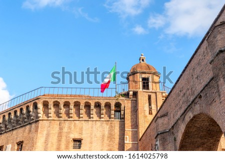Stockfoto: Fragment · Rome · mausoleum · Italië · kunst · steen
