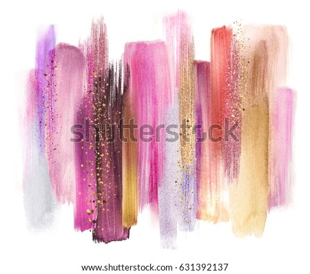 Cosmetics abstract texture background, red acrylic paint brush s Stock photo © Anneleven