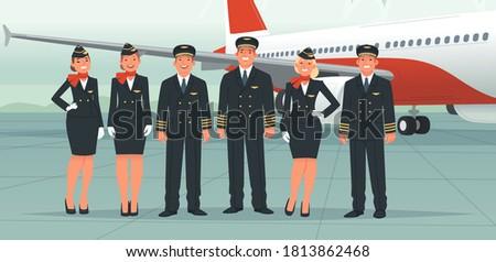 Cartoon Commercial Airplane Stock photo © mechanik