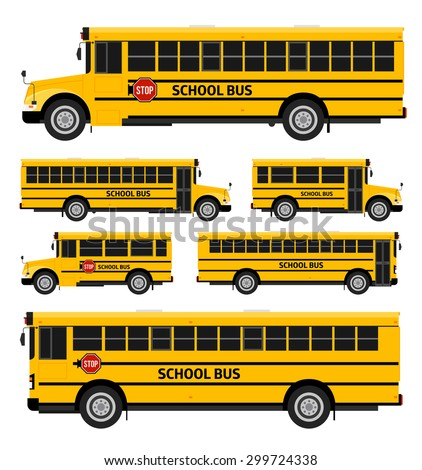 Vector illustration flat icon yellow school bus on white background. Stock photo © Zhukow