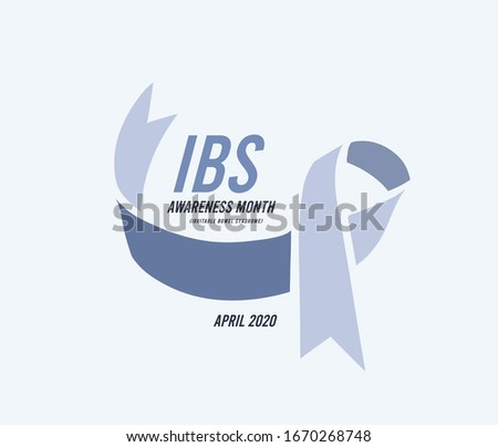 Irritable Bowel Syndrome, IBS Awareness Month. Vector illustration with blue ribbon Stock photo © m_pavlov
