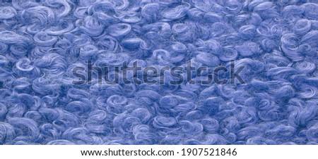 Сток-фото: роскошь · синий · шуба · текстуры · искусственный · ткань