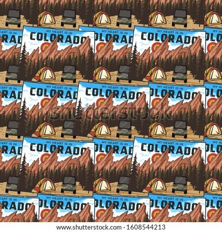 Kemping Colorado przygoda podróży lasu Zdjęcia stock © JeksonGraphics