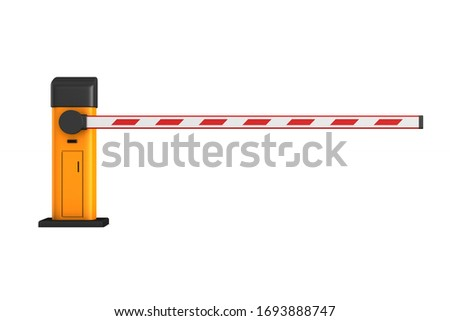 open automatic barrier on white background. Isolated 3D illustra Stock photo © ISerg
