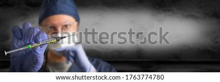 Bandeira médico enfermeira cirúrgico luva Foto stock © feverpitch