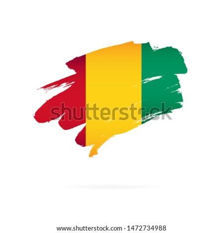 Guiné bandeira mão branco fundo liberdade Foto stock © butenkow