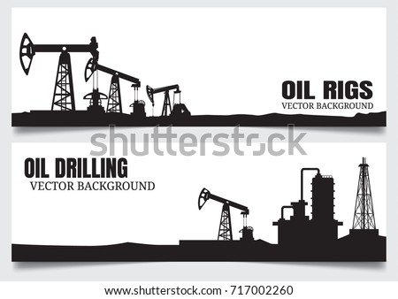 Oil rig. Petroleum elements. Process of oil production and petroleum refining. Fuel. Flat vector ele Stock photo © designer_things