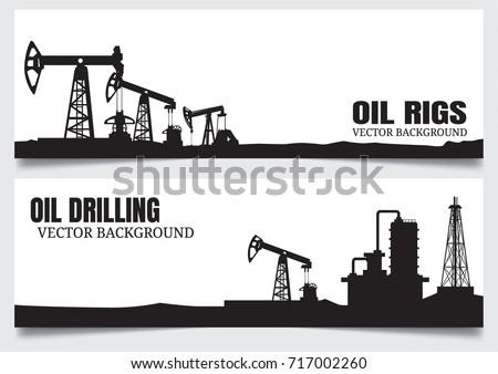 Torre de perforación petrolera petróleo elementos proceso petróleo producción Foto stock © designer_things