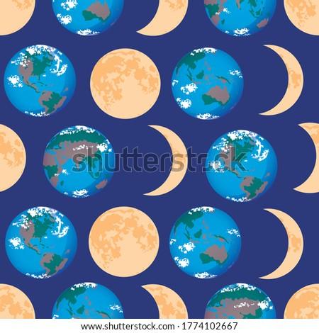 Gerçekçi ay doku renkli toprak uydu Stok fotoğraf © evgeny89