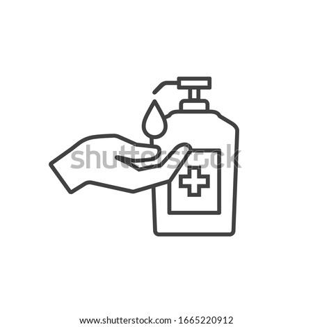 Garrafa antibacteriana líquido sabão mão rosa Foto stock © Anneleven