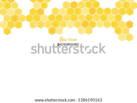 Petek ev sevimli arılar karikatür stil Stok fotoğraf © bluering