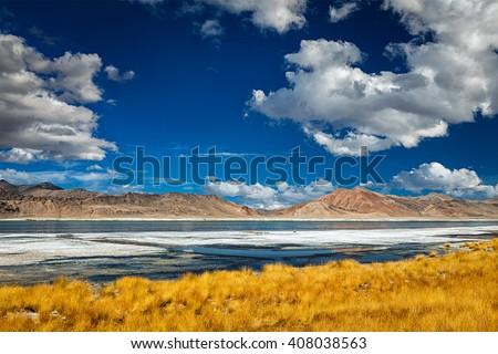 Mountain lake Tso Kar in Himalayas Stock photo © dmitry_rukhlenko