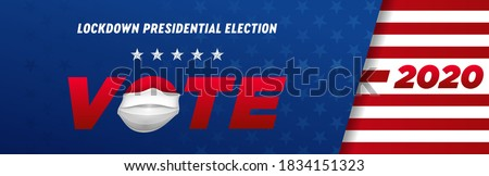 Presidencial eleição coronavírus on-line votação opção Foto stock © m_pavlov